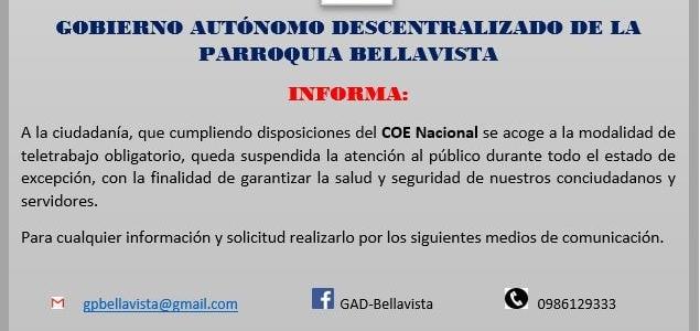 COMUNICADO OFICIAL - MODALIDAD DE TELETRABAJO OBLIGATORIO.